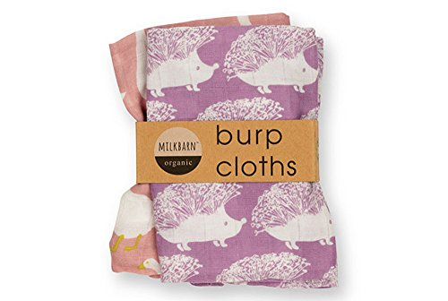 Milkbarn Organic Burp Cloths 2 Pack