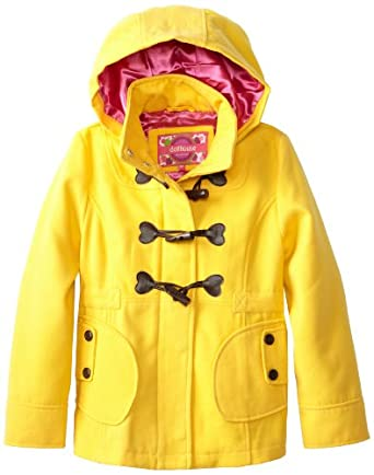 Dollhouse Big Girls'  Wool Peacoat, Aspen Yellow, 16