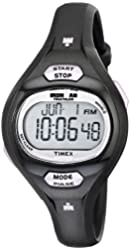 Timex Women's T5K187 Ironman Pulse Calculator Black/Purple Resin Strap Watch