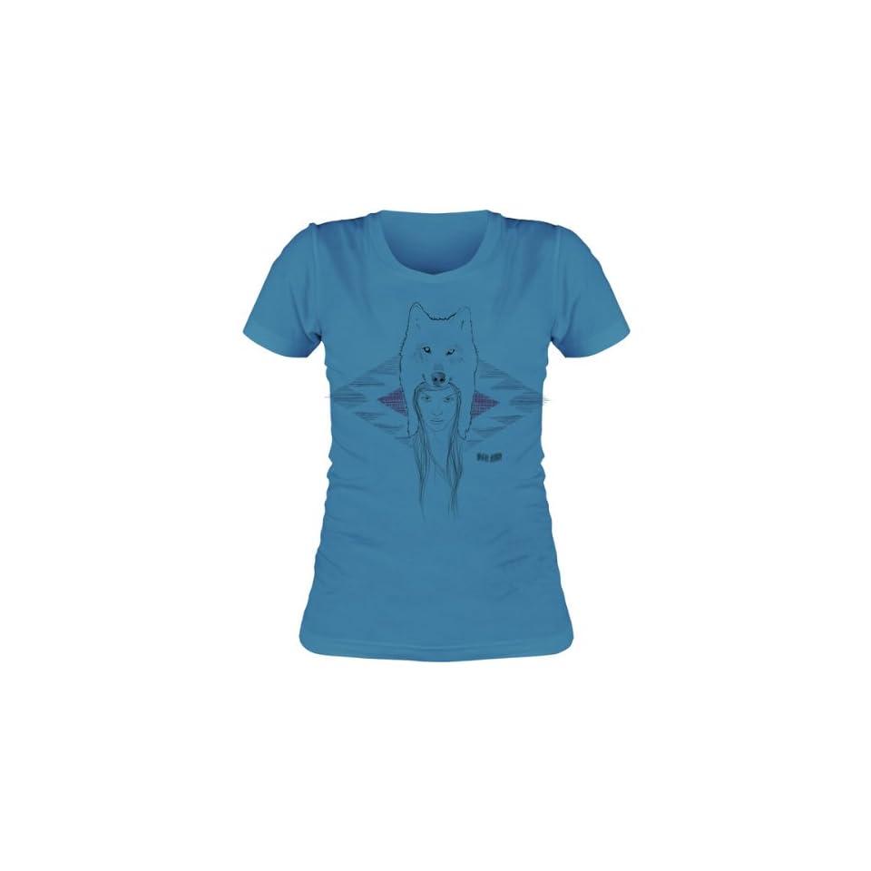 Vestal Wolf Womens Short Sleeve Fashion Shirt   Turquoise