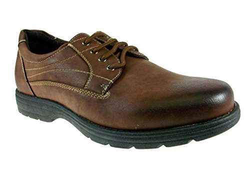 Delli Aldo Men's 30130-Brown Round Toe Comfort Casual Shoes, Brown, 8.5