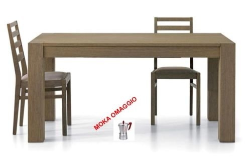TABLES&CHAIRS Tavolo da pranzo allungabile in rovere sala con piede dritto 638 140x90x777