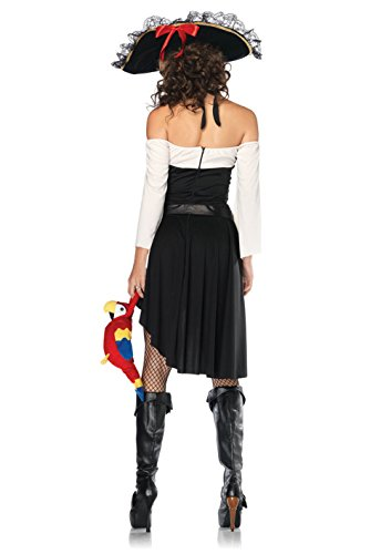 Women Saucy Wench,Dress With Waist Cincher, Belt With Skull Buckle Costumes