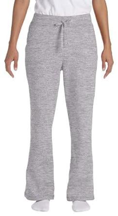Gildan G184FL Ladies Heavy Blend Open-Bottom Sweatpants - Sport Grey - M