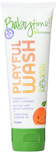 Babytime By Episencial Playful Wash Organic Shampoo Plus Body Cleanser, Travel Size, 3.4 Ounce (Pack of 12)