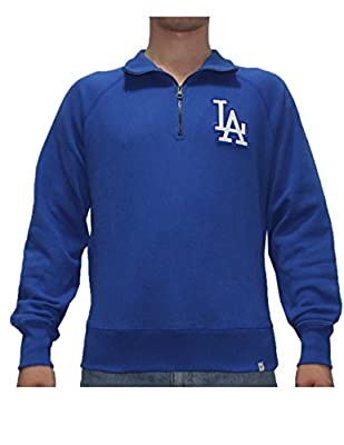 Mens MLB Los Angeles Dodgers Athletic 1/4 Zip Pullover Thermal Sweatshirt