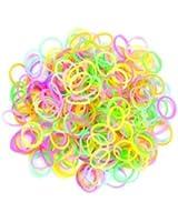 Lot de 300 élastiques en silicone phosphorescent , 1 crochet et 12 fermoirs pour Loom Bands