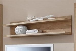wandboard 120 cm board eiche sonoma teil massiv b cherregal regal wandregal k che. Black Bedroom Furniture Sets. Home Design Ideas