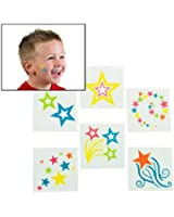Fun Express Glow-In-The-Dark Star Tattoos 72 Pieces Toy
