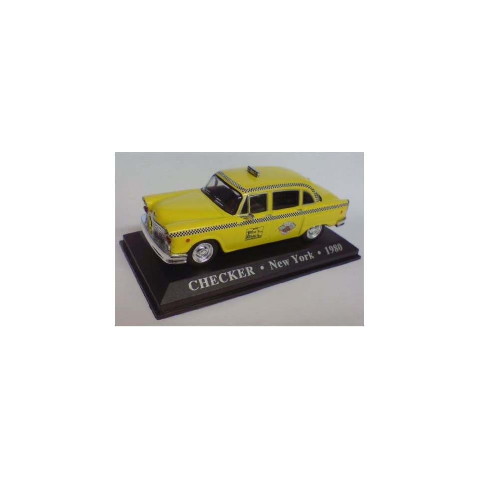 143rd Scale 1980 Checker New York Taxi Cab Toys & Games