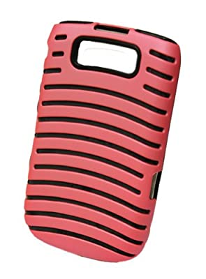 GO BC798 Silicone Lined Design Protective Case for BlackBerry 9700/9780 - 1 Pack - Retail Packaging - Rose from GO