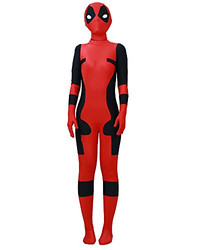 Miccostumes Boy's deadpool lycra cosplay jumpsuit