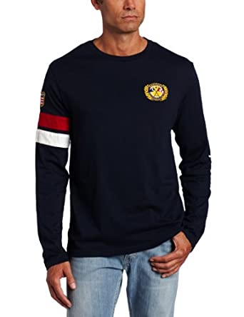 Nautica Men's Big-Tall Pieced Crewneck Tee, Navy, 3X