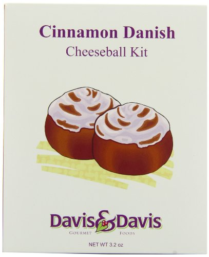 Davis & Davis Gourmet Foods Cinnamon Danish Cheeseball Kit, 3.2-Ounce Boxes (Pack of 6)
