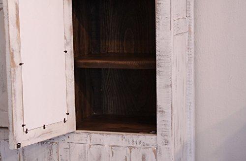 White Eliza Sliding Barn Door Armoire