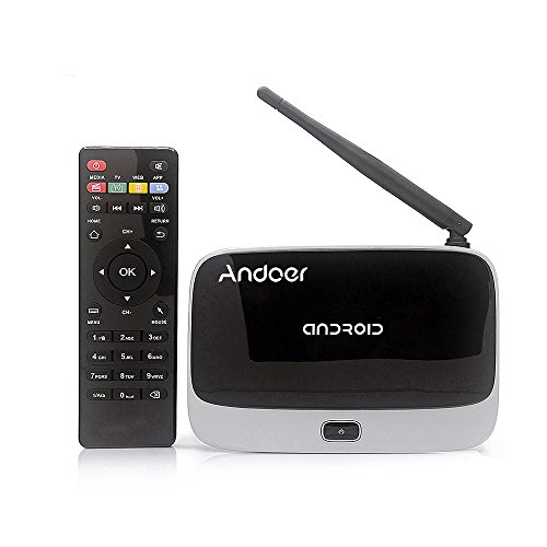Andoer CS-918T 1080P TV BOX スマート Android 4.4 テレビボックス メディアプレーヤ インターネットテレビボックス Rockchip RK3128t クアッドコア ARM Cortex A7 1.3 GHz 2G / 16G H.265 XBMC DLNA Miracast Airplay WiFi Bluetooth 4.0 OTG TF カード Slot 外部アンテナ リモコン付き【並行輸入品】 Andoer