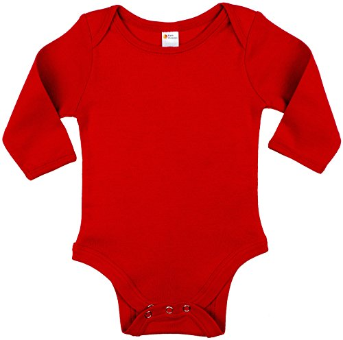 Earth Elements Baby Long Sleeve Bodysuit 6-12 Months Red