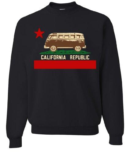 California Republic Vintage Van Crewneck Sweatshirt By Dsc - Black Medium front-499192