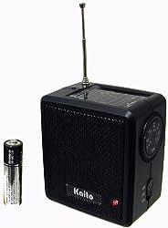 Kaito SB-1059 Mini Hand Crank AM/FM Weather Radio, Black