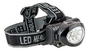 Ultrasport Lampe frontale multifonctions à 10 DEL / Lampe frontale à tête inclinable avec piles