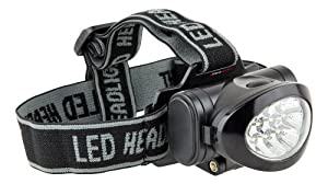 Ultrasport 10 LED Multi-purpose Headlamp with Tilting Lamp Head, Incl. Batteries