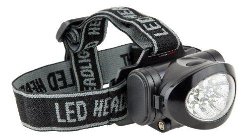 Ultrasport Linterna frontal multifunción 10 ledes / frontal con cabezal inclinable, pilas incluidas