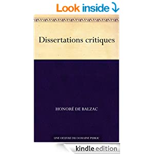 Dissertations critiques (French Edition)