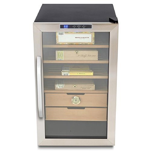 Whynter Stainless Steel 2.5 Cu. Ft. Cigar Cooler Humidor