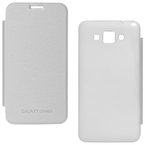 DMG Smooth PU Leather Back Replace Flip Cover Case For Samsung Galaxy Grand Max SM-G7200 (White)