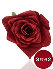 Ruby Clip-on Flower Christmas Tree Decoration