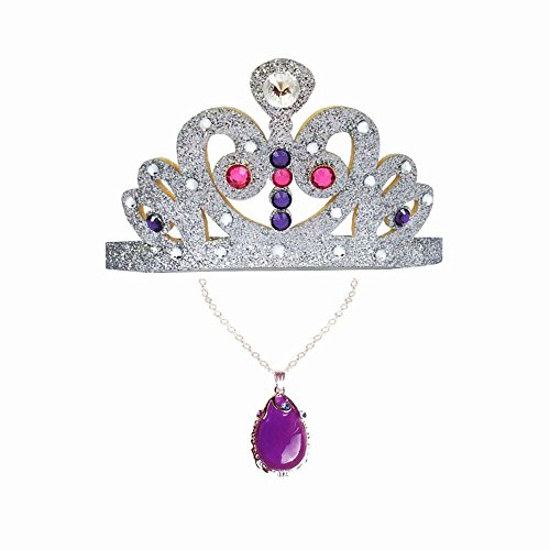 Princess Sofia the First Costume Non Slip Crown Tiara, Lead Free Amulet of Avalor