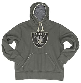 NFL Oakland Raiders Bigger Better Logo Pull Over Hoodie Mens by Reebok