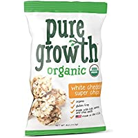 Pure Growth Organic White Cheddar Super Chips, 3.5 Ounce (Pack Of 6)