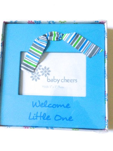 "Baby Frame Holds 3"" By 5"" Photo Says ""Welcome Little One"""