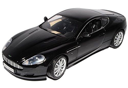 Aston-Martin-Db9-Coupe-Schwarz-Basis-Fr-Dbs-James-Bond-007-Dienstwagen-118-Motormax-Modellauto-Modell-Auto