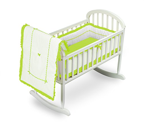 Baby Doll Unique Cradle Bedding Set, Green Apple - 1