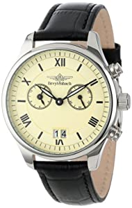 Breytenbach Unisex Quartz Watch with White Dial Analogue Display and Beige Leather Strap BB88402BE