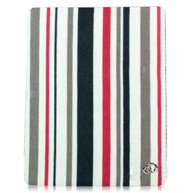 Kroo Case Tri-PAD Canvas Flex Case for Apple iPad 3 (The New iPad 4G LTE Latest 2012)/ iPad 2 Wifi, Wifi+3G 16g, 32g, 64g - Red