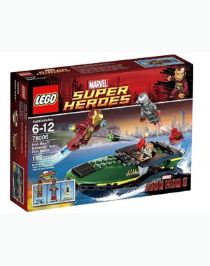 LEGO Super Heroes Iron Man Extremis Sea Port Battle (76006) Amazon.com