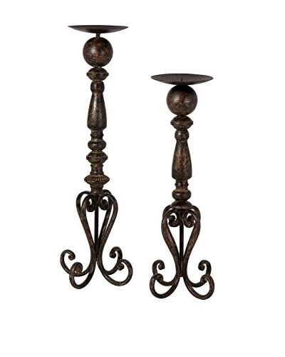 Set of 2 Darby Candle Stands