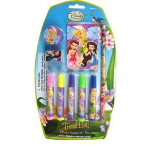 Disney Tinkerbell Fairies 9-Piece Stationery Set