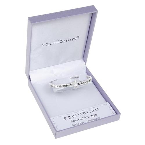 Equilibrium Jewellery-Braccialetto placcato in argento, a forma di angelo custode, 7101 Protect
