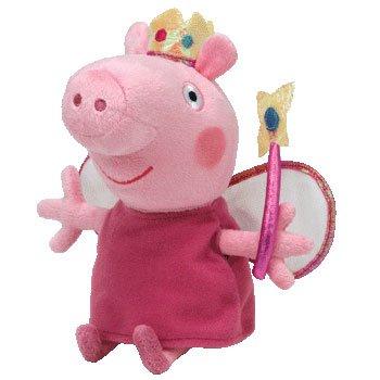 Imagen de Ty Peppa Pig Reino Unido exclusivo Beanie Baby Princess Peppa