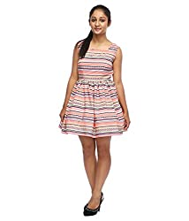 Tryfa Women's Dress (TFDRSR000059-S_Multi_Small)