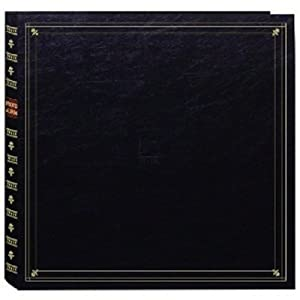 "Pioneer 300 Pocket Post Bound Black Leatherette Cover Photo Album for 4""x6"" Prints"