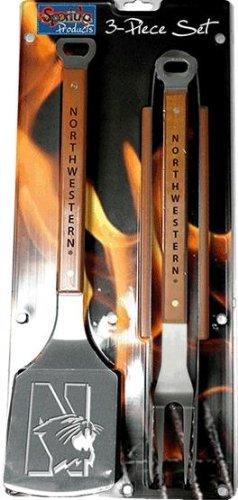 Sportula® 3 Piece Stainless Steel BBQ Set, Northwestern Wildcats