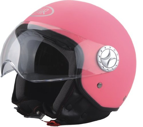 BHR-50193-Demi-Jet-Casco-Color-Rosa-Mate