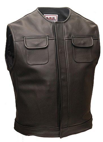 Outlaw Network Enterprises Outlaw Leather Biker Vest w/No ...