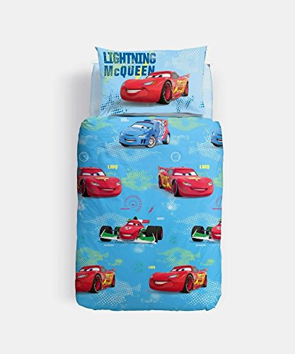 Caleffi Completo copripiumino letto singolo Disney CARS TREND