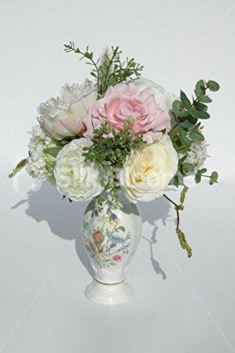 Superbe Vase Table d'appoint Arrangement w & pivoines Roses